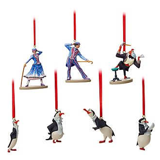 Disney Store Mary Poppins Returns Limited Edition Hanging Ornaments, Set of 7