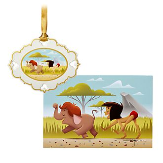 Disney Store The Jungle Book Limited Edition Ornament and Lithograph Set