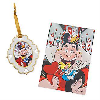 Set adorno y litografía Alicia en el País de las Maravillas, edición limitada, Disney Store