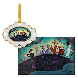 Set adorno y litografía Peter Pan, edición limitada, Disney Store