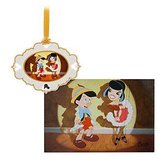 Set adorno y litografía Pinocho, edición limitada, Disney Store