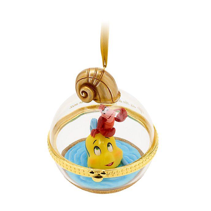 Decorazione a sospensione Dynamic Duos Flounder e Sebastian Disney Store, 6 di 12