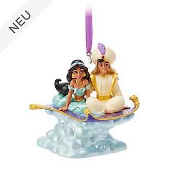 Disney Store - Aladdin und Prinzessin Jasmin - Singendes Dekorationsstück zum Aufhängen