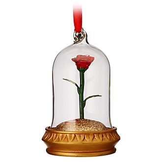 Disney Store Enchanted Rose Light-Up Hanging Ornament