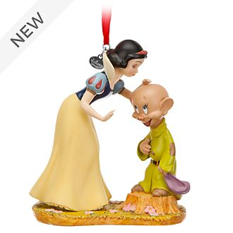 Disney Store Snow White and Dopey Hanging Ornament
