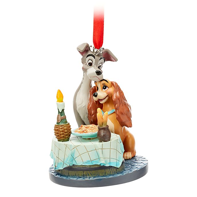 Disney Store Lady and the Tramp Hanging Ornament