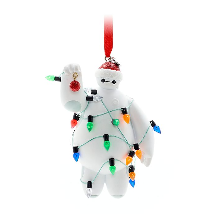 Disney Store Baymax Festive Hanging Ornament