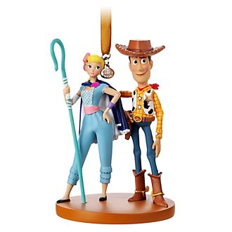 Disney Store Woody and Bo Peep Hanging Ornament, Toy Story 4