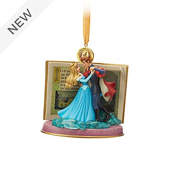 Disney Store Sleeping Beauty Blue Hanging Ornament