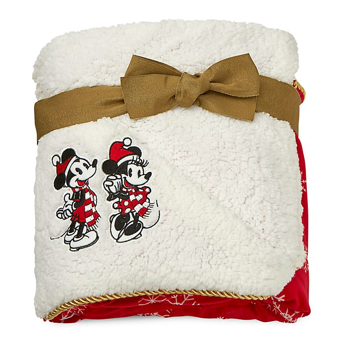 Disney Store Plaid en polaire Mickey et Minnie, collection Holiday Cheer