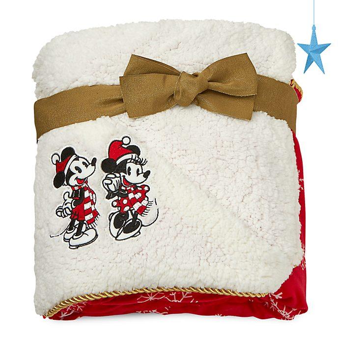 Coperta in pile Holiday Cheer Topolino e Minni Disney Store