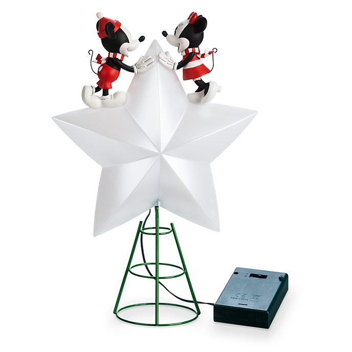 Disney Store Micky and Minnie Holiday Cheer Light-Up Tree Topper