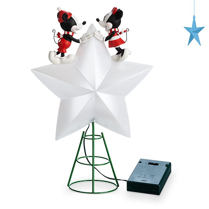 Disney Store Mickey and Minnie Holiday Cheer Light-Up Tree Topper