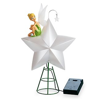 Disney Store Tinker Bell Holiday Cheer Light-Up Tree Topper