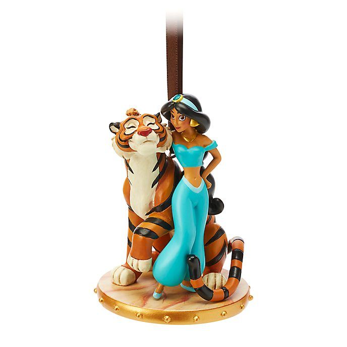 Disney Store Princess Jasmine and Rajah Hanging Ornament