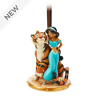 Disney Store Princess Jasmine and Rajah Hanging Ornament