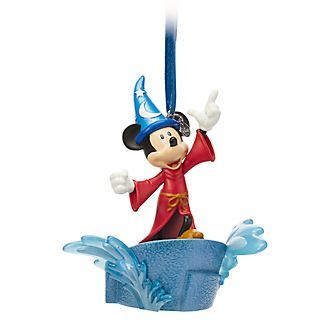 Disney Store Mickey Mouse Sorcerer's Apprentice Light-Up Hanging Ornament