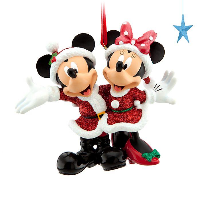 Disney Store Décoration de Noël Mickey et Minnie à suspendre
