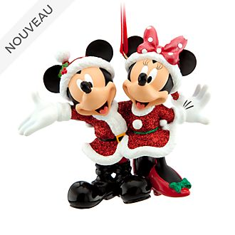 Disney Store Décoration de Noël Mickey et Minnie à suspendre