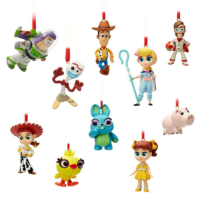 Disney Store Toy Story 4 Hanging Ornaments, Set of 10
