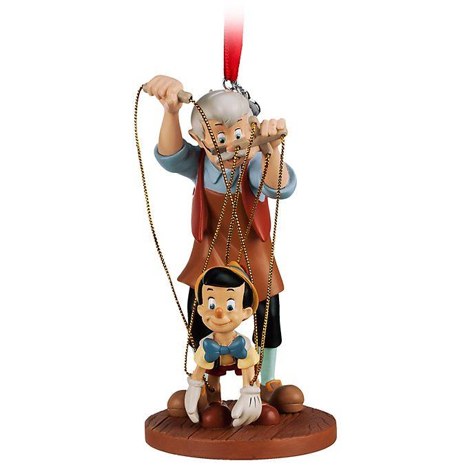 Disney Store Décoration Pinocchio et Gepetto à suspendre