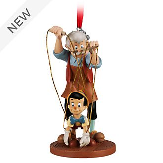 Disney Store Pinocchio and Geppetto Hanging Ornament