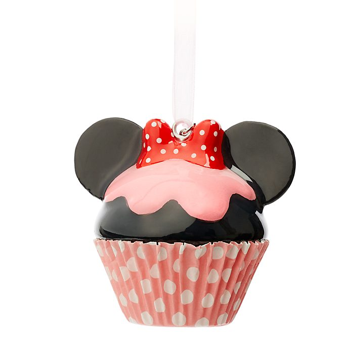 Disney Store Minnie Mouse Cupcake Hanging Ornament