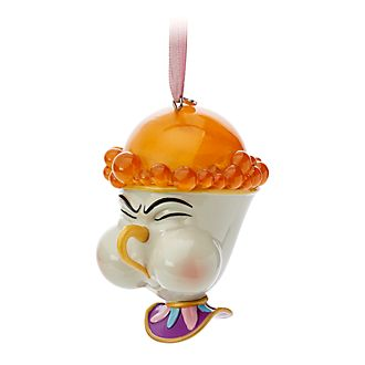 Disney Store Chip Hanging Ornament, Beauty and the Beast
