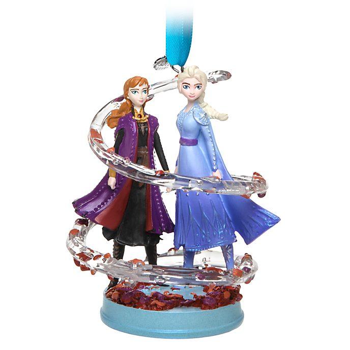 Disney Store Anna and Elsa Hanging Ornament, Frozen 2