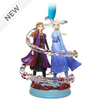Disney Store Anna and Elsa Hanging Ornament, Frozen 2