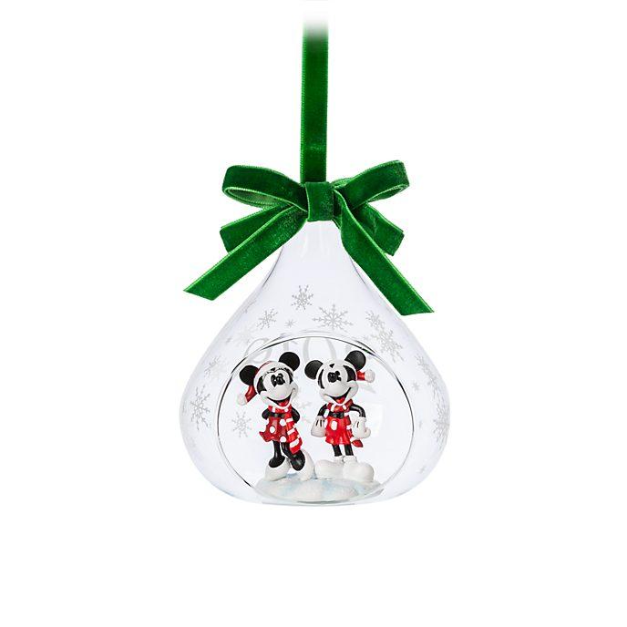 Palla di neve natalizia aperta da appendere Topolino e Minni, Disney Store