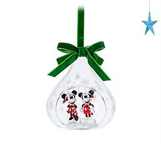Adorno colgante bola abierta Mickey y Minnie, Disney Store
