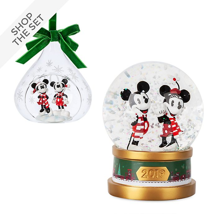 Disney Store Mickey and Minnie Christmas Ornament Collection