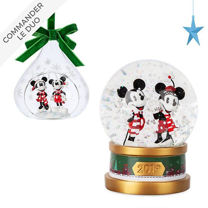 Disney Store Collection de décorations de Noël Mickey et Minnie
