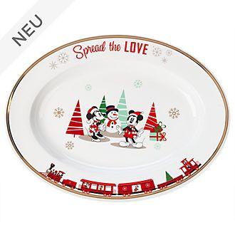 Disney Store - Holiday Cheer - Micky und Minnie - Servierplatte