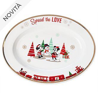 Piatto da portata Topolino e Minni Holiday Cheer Disney Store