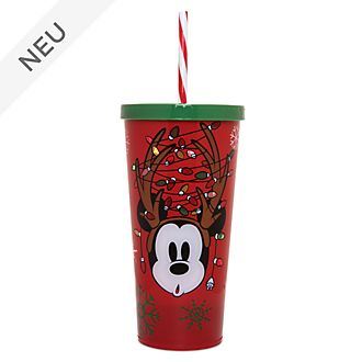 Disney Store - Holiday Cheer - Micky Maus - Strohhalm-Becher mit Licht