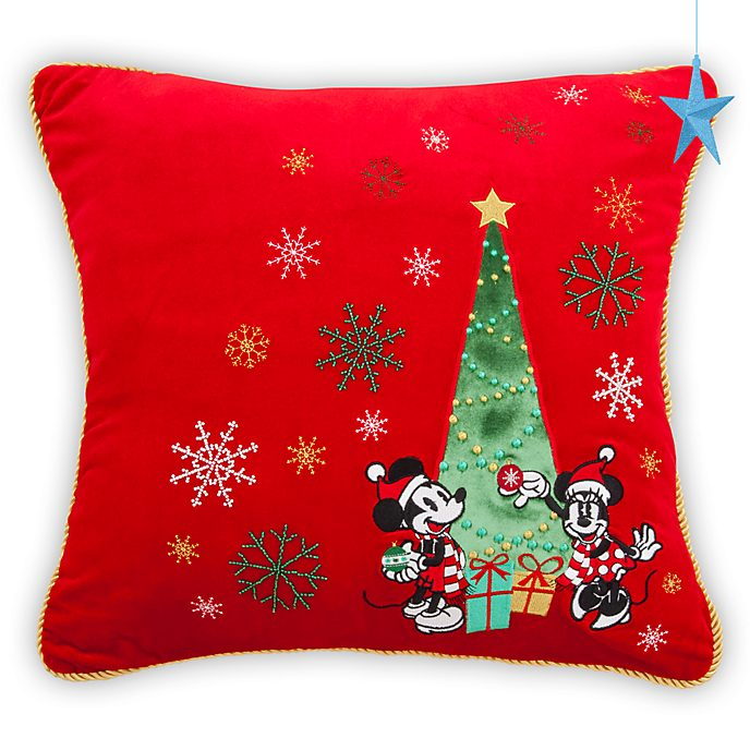 Disney Store Coussin Mickey et Minnie, Holiday Cheer