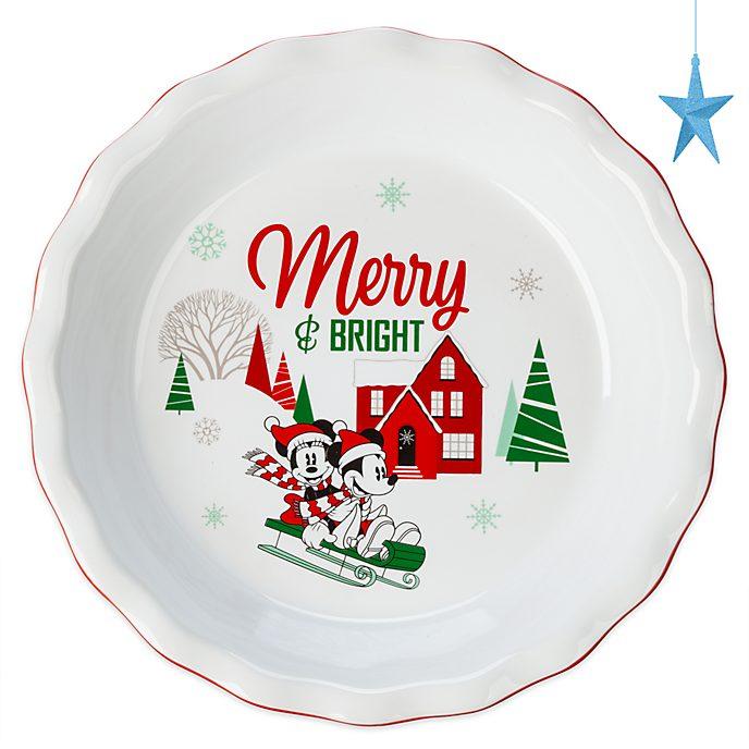 Piatto da torta Topolino e Minni Holiday Cheer Disney Store