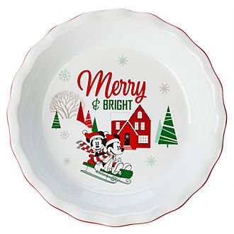 Disney Store Moule à tarte Mickey et Minnie, Holiday Cheer