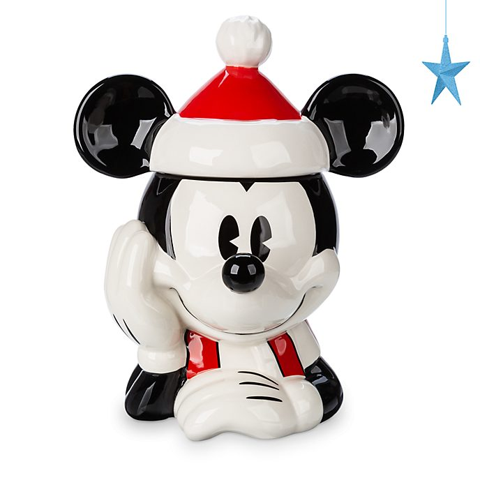 Disney Store Mickey Mouse Holiday Cheer Cookie Jar