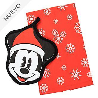 Disney Store set trapo y agarradera Mickey Mouse, Holiday Cheer