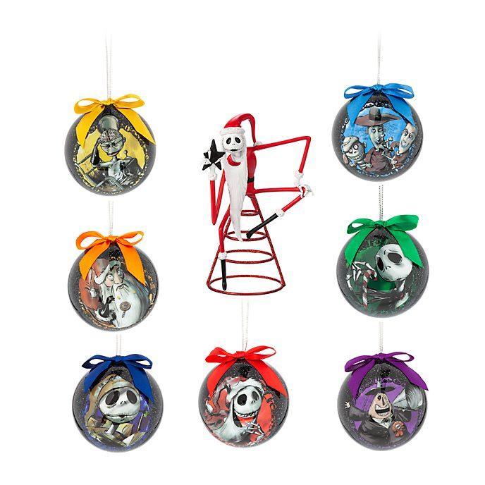 Disney Store - Nightmare Before Christmas - Weihnachts-Kugeln und Weihnachtsbaumspitze