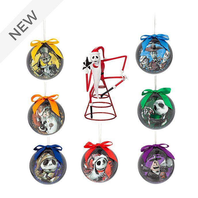 Disney Christmas Tree Topper Uk.Disney Store The Nightmare Before Christmas Baubles And Tree Topper