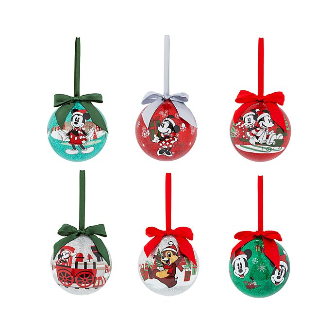 Disney Store Mickey and Friends Christmas Baubles