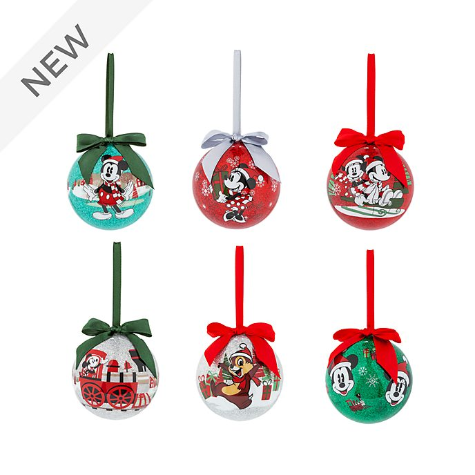 Christmas Baubles.Disney Store Mickey And Friends Christmas Baubles