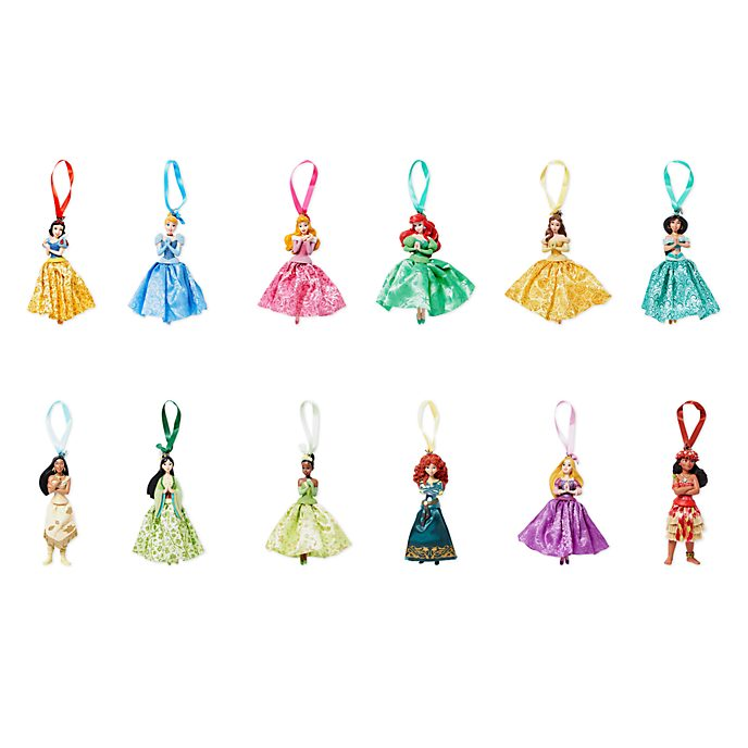 Disney Store - Disney Prinzessin - Dekorationsstücke zum Aufhängen, 12er-Set