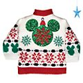 Disney Store Mickey Mouse Holiday Cheer Bottle Sweater