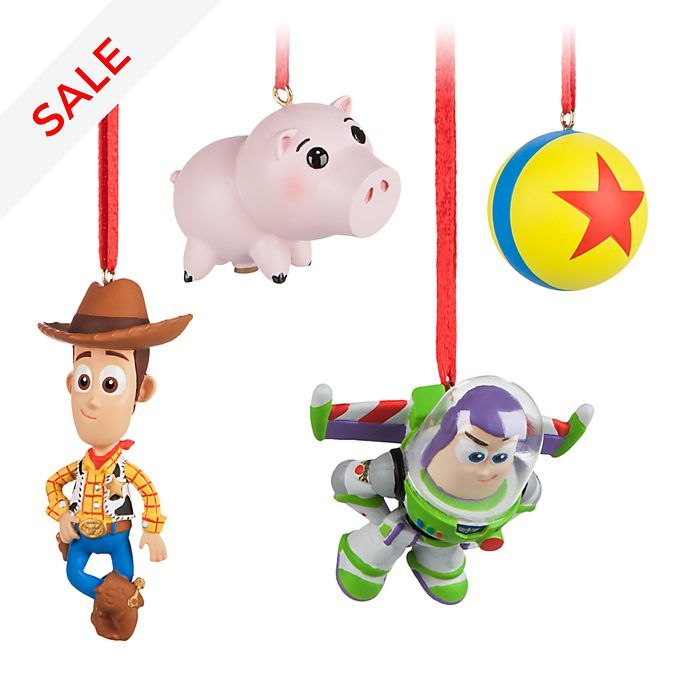 Story Of Christmas.Toy Story Christmas Decorations Set Of 4