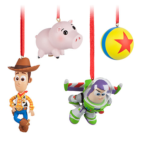 Toy Story Christmas Decorations, Set of 4